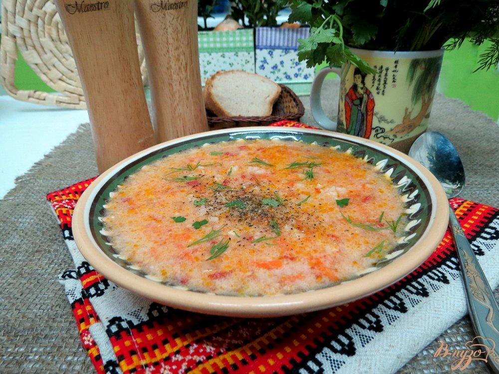 Фото приготовление рецепта: Томатный суп с рисом шаг №10