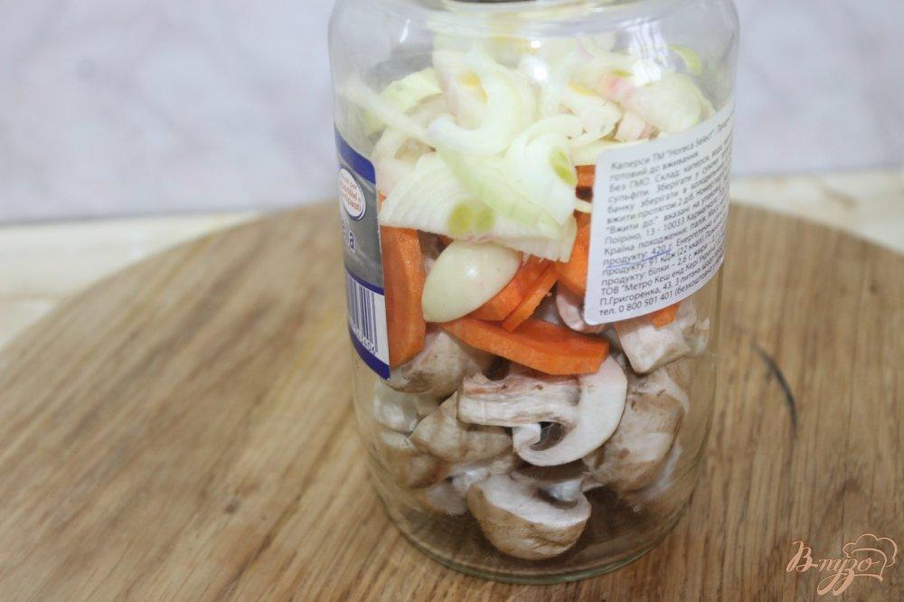 Фото приготовление рецепта: Овощной рататуй маринованный шаг №4