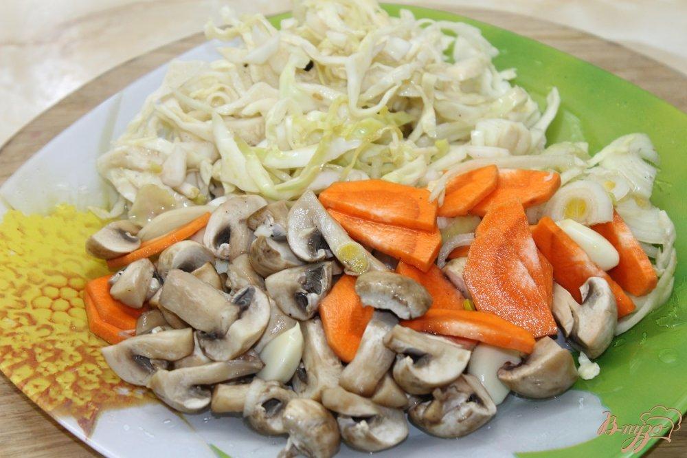 Фото приготовление рецепта: Овощной рататуй маринованный шаг №9