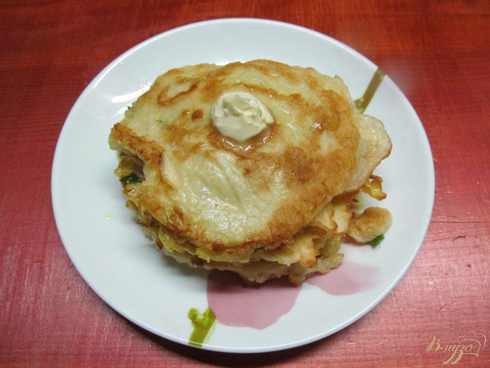 Фото приготовление рецепта: Овощной мильфей из капусты картофеля и крабовых палочек шаг №12