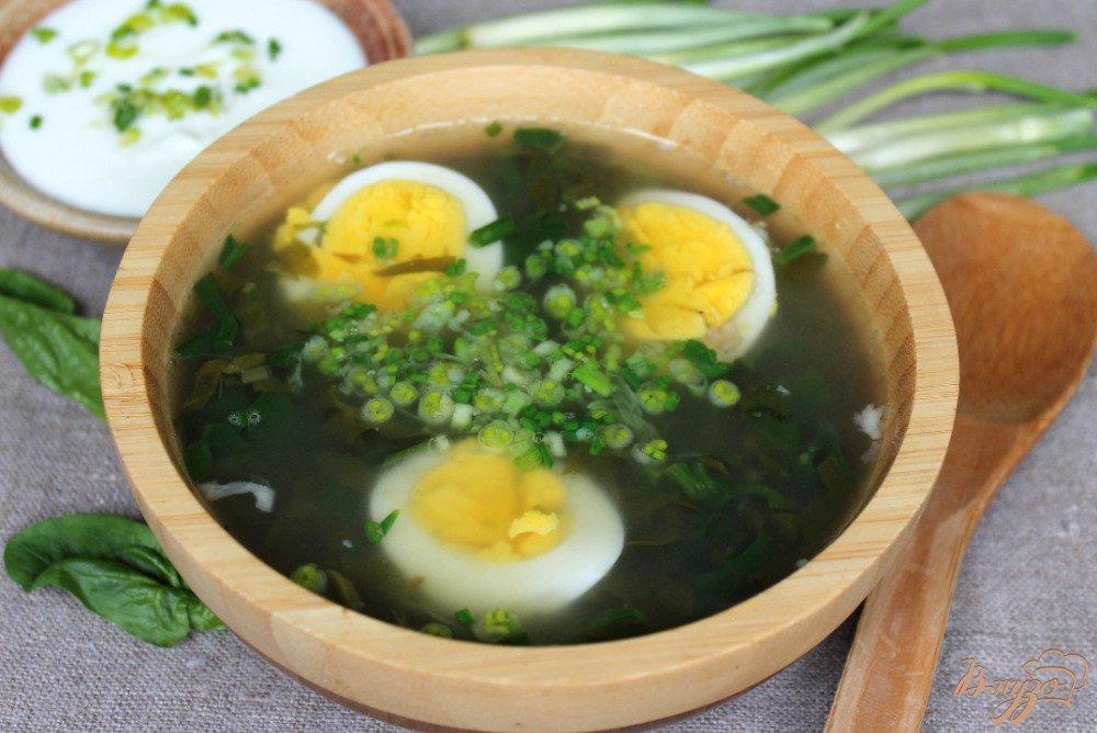 Фото приготовление рецепта: Зеленый борщ шаг №7