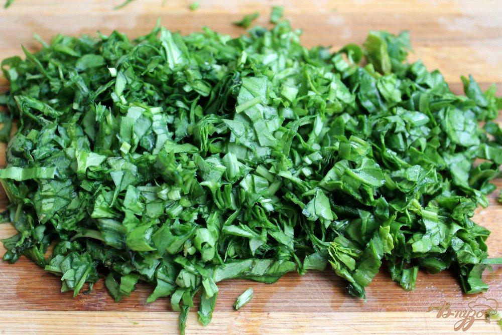 Фото приготовление рецепта: Зеленый борщ шаг №5