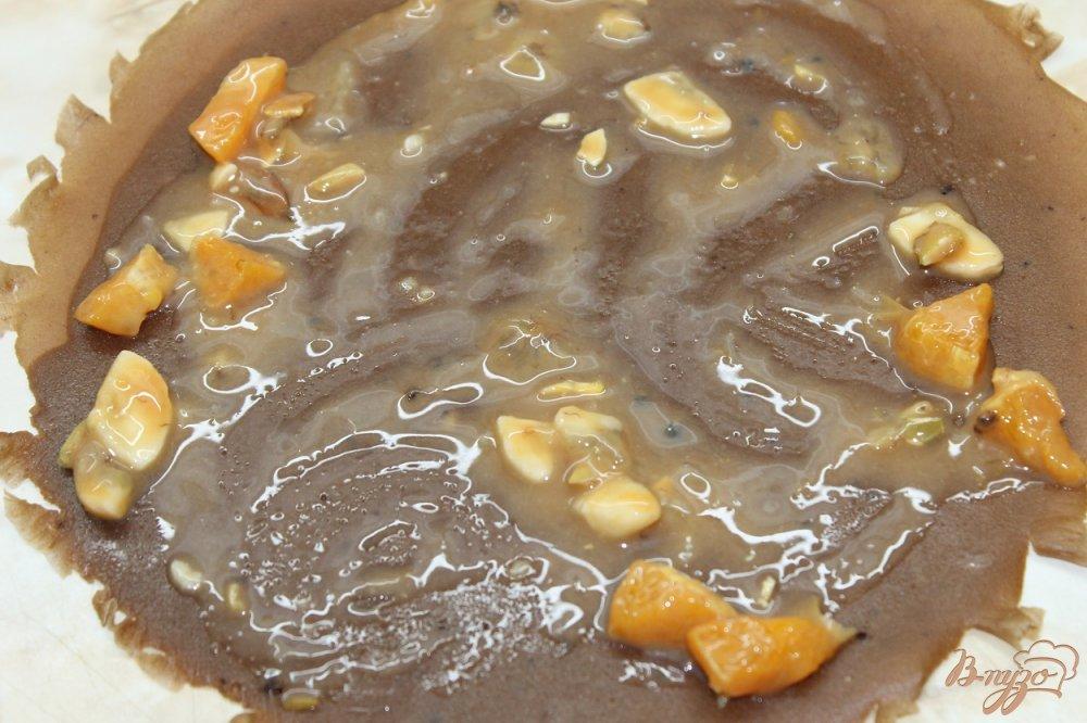 Фото приготовление рецепта: Сладкие блинные роллы шаг №7