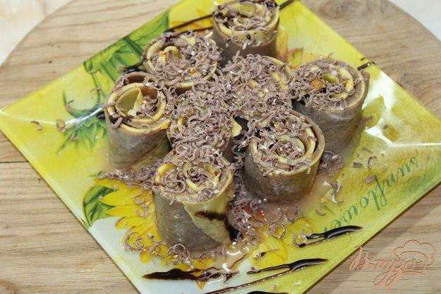 фото рецепта: Сладкие блинные роллы