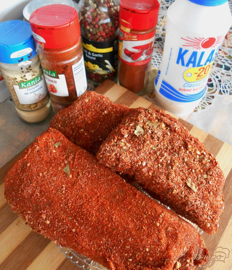 Фото приготовление рецепта: Сыровяленое мясо шаг №3