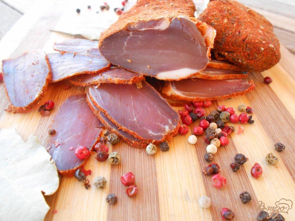 Фото приготовление рецепта: Сыровяленое мясо шаг №5
