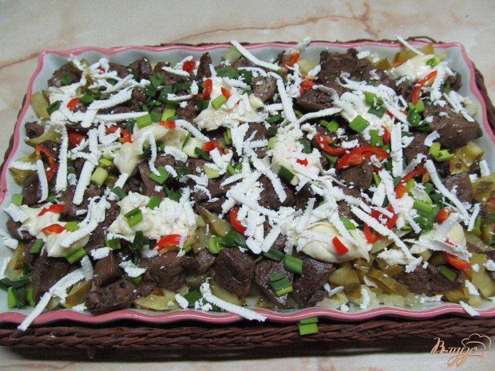 Фото приготовление рецепта: Салат из печени шаг №11