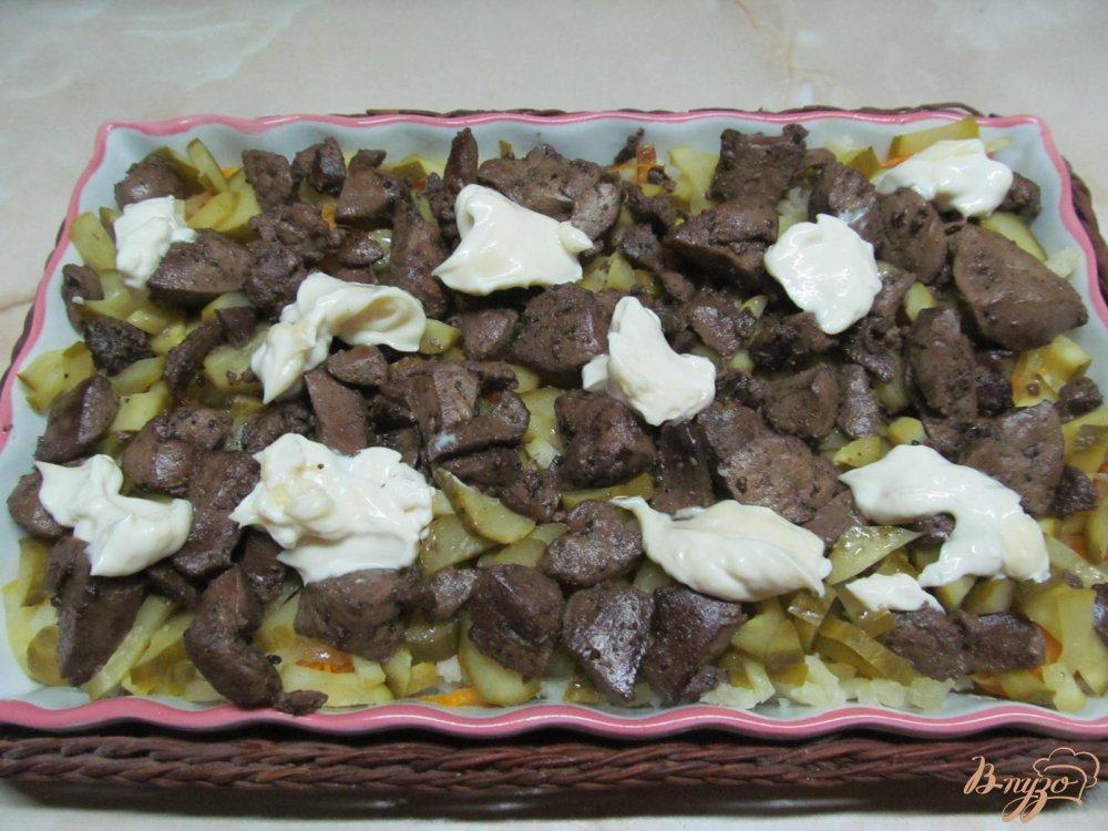 Фото приготовление рецепта: Салат из печени шаг №9