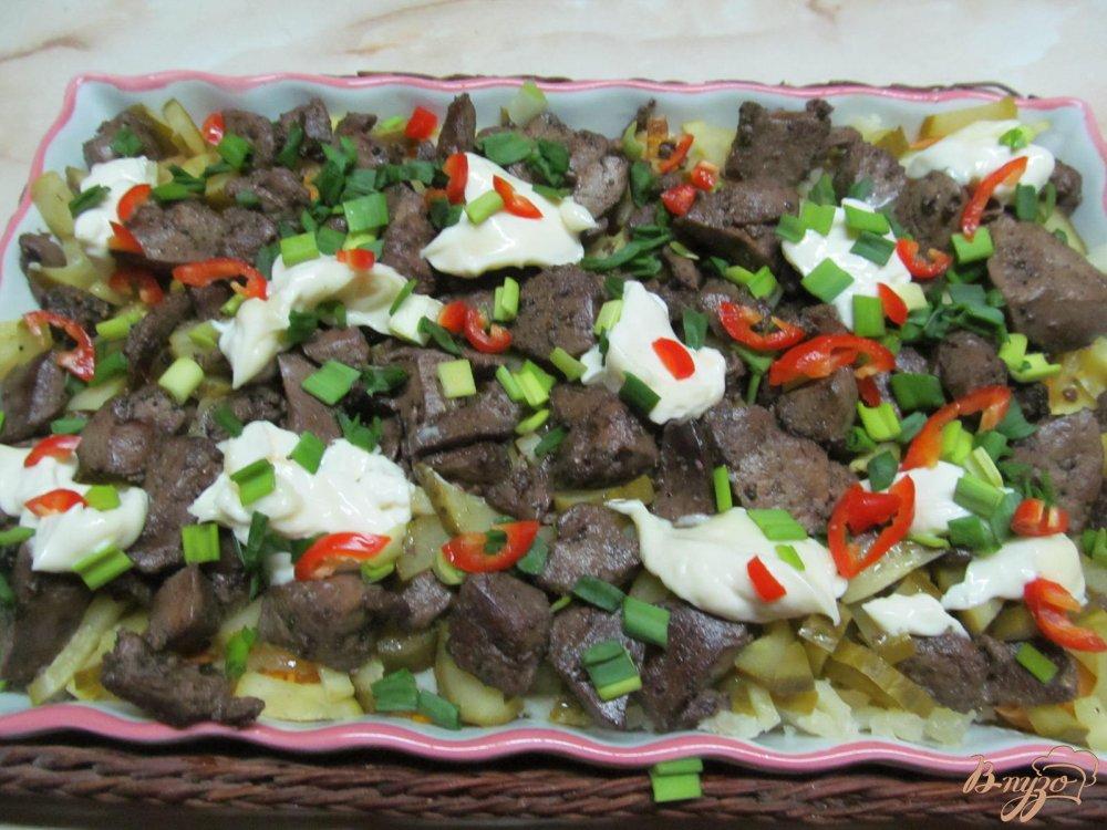 Фото приготовление рецепта: Салат из печени шаг №10