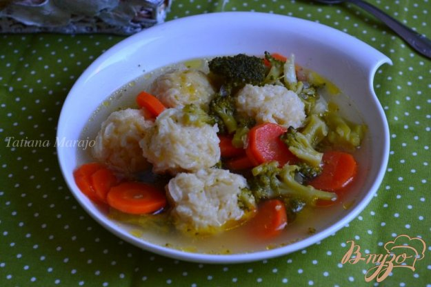 фото рецепта: Овощной суп с рисовыми шариками