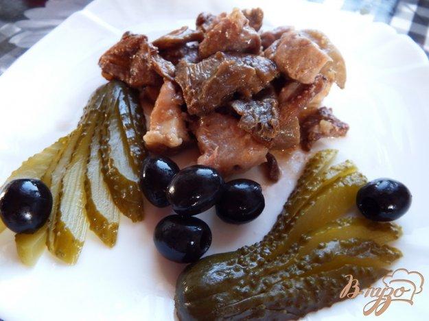 фото рецепта: Тушеная свинина с грибами