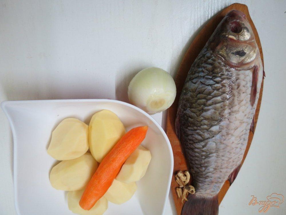 Фото приготовление рецепта: Суп с карасём шаг №1
