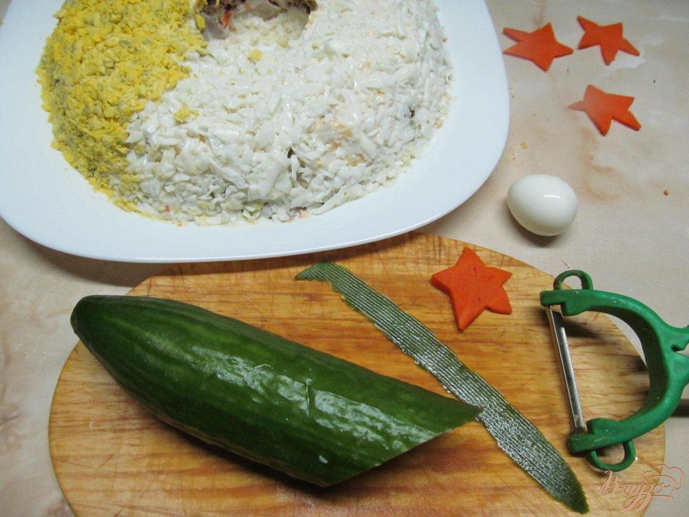 Фото приготовление рецепта: Салат Пасхальный венок шаг №11