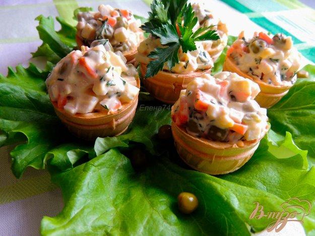 Тарталетки для салата с кальмарами