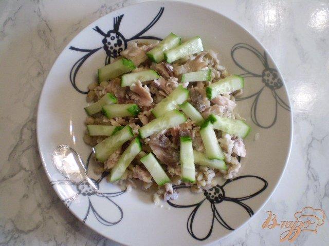 Фото приготовление рецепта: Дачный салат шаг №4