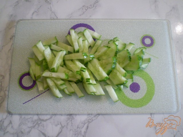 Фото приготовление рецепта: Салат крабовый шаг №2