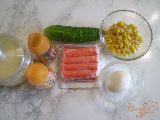 Фото приготовление рецепта: Салат крабовый шаг №1