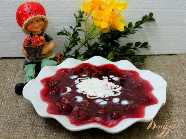 фото рецепта: Вишнёвый холодный суп
