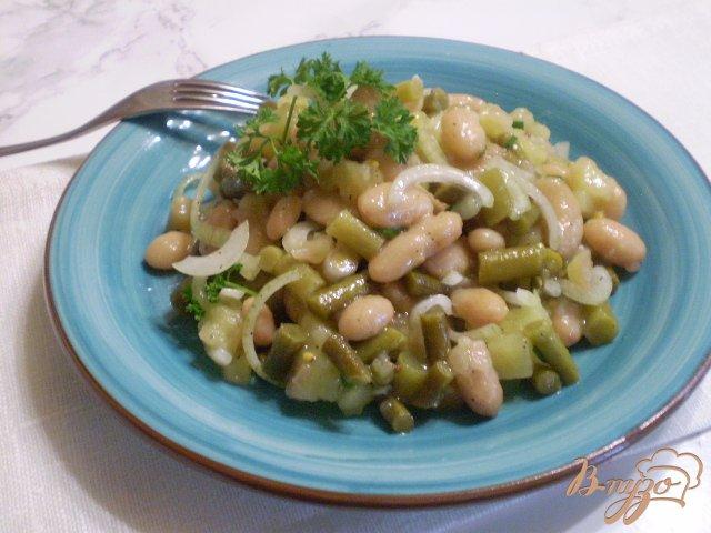 Фото приготовление рецепта: Салат со стрелками чесока шаг №7