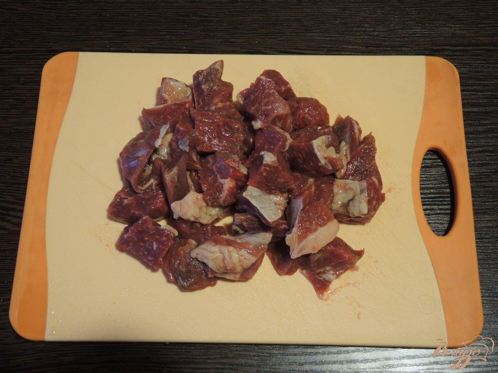 Фото приготовление рецепта: Суп харчо с соусом ткемали шаг №1