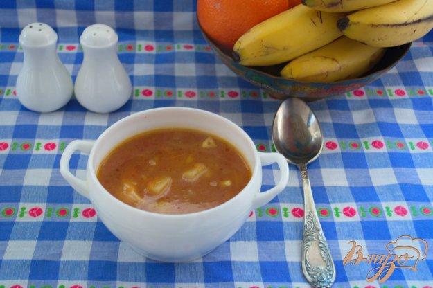 фото рецепта: Томатный суп с мясом и макаронами