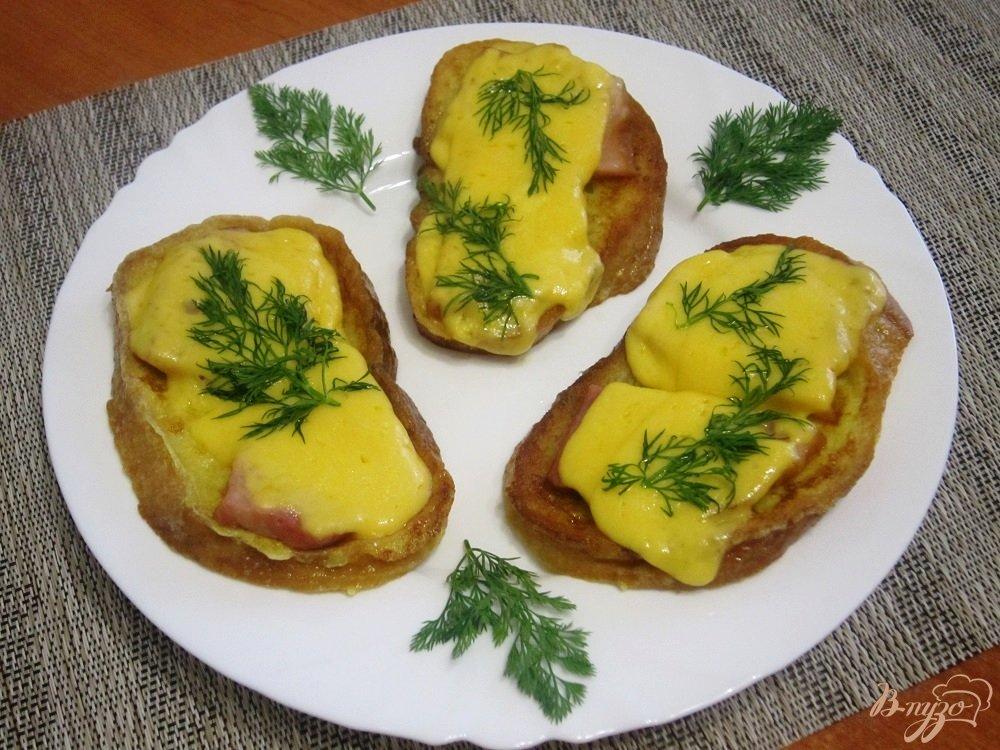 Фото приготовление рецепта: Французские гренки шаг №8
