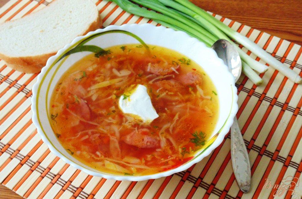 Cолянка подомашнему с колбасой  пошаговый рецепт с фото