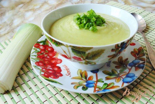 Суп-пюре з цибулі-порею. Як приготувати з фото