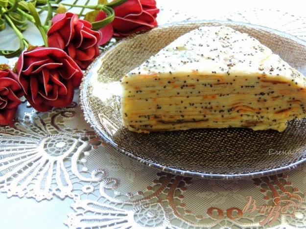 фото рецепта: Маковый блинный торт