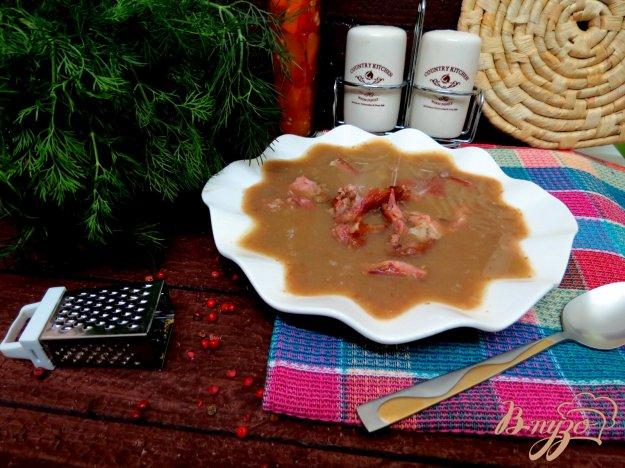 фото рецепта: Суп пюре с чечевицей и копчёностями