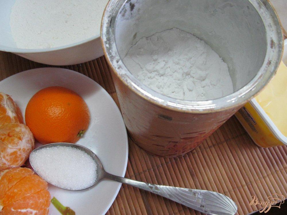 Фото приготовление рецепта: Пирог с мандариновой начинкой шаг №1
