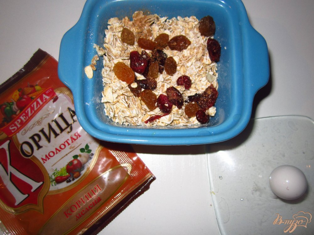 Фото приготовление рецепта: Холодный завтрак из овсянки и клюквы шаг №3