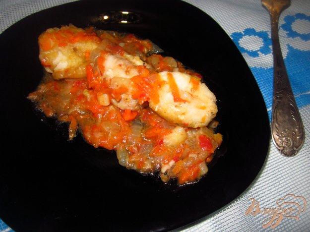 фото рецепта: Нототения в тушенная с овощами в соусе