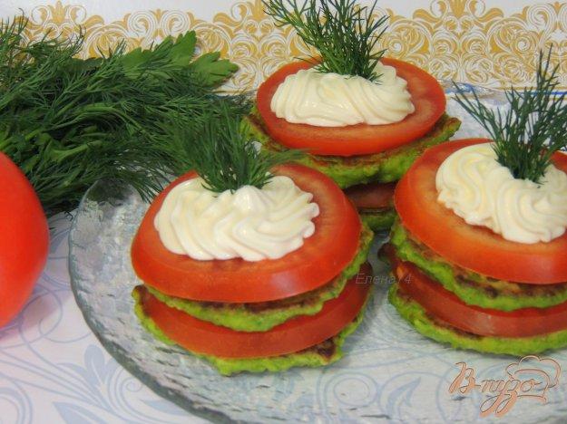 фото рецепта: Оладьи из зелёного горошка