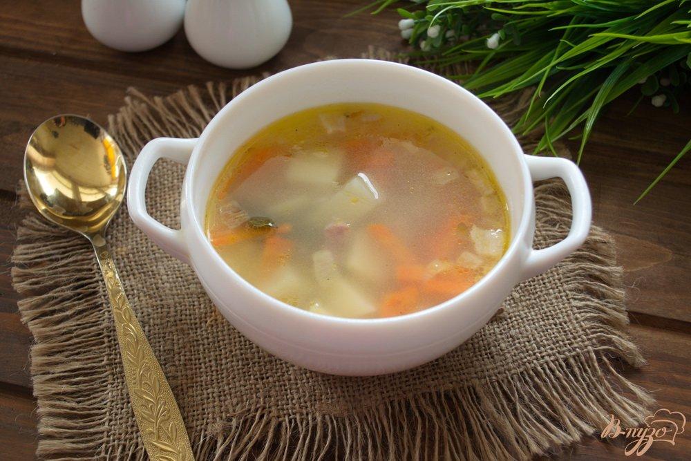 Фото приготовление рецепта: Суп с бужениной шаг №6
