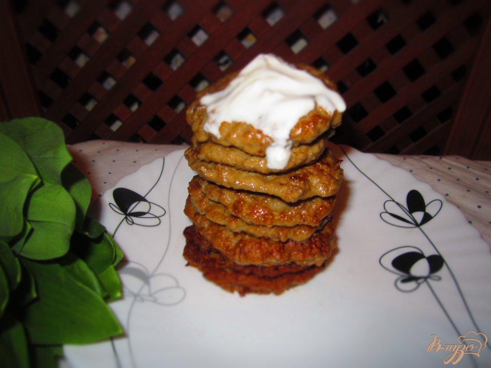 Фото приготовление рецепта: Печеночные блинчики с клетчаткой шаг №6
