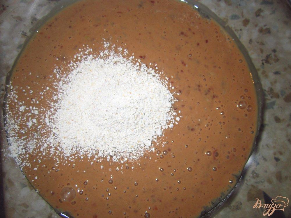 Фото приготовление рецепта: Печеночные блинчики с клетчаткой шаг №4