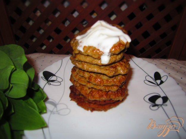 фото рецепта: Печеночные блинчики с клетчаткой