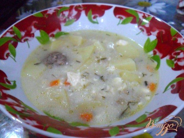 фото рецепта: Сырный суп с фрикадельками в мультиварке