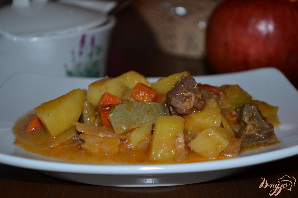Фото приготовление рецепта: Овощной микс с говядиной в мультиварке шаг №11