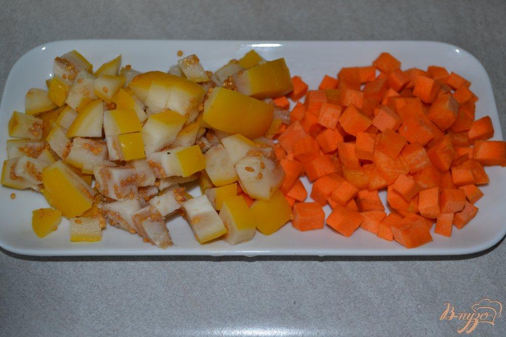 Фото приготовление рецепта: Овощной микс с говядиной в мультиварке шаг №4