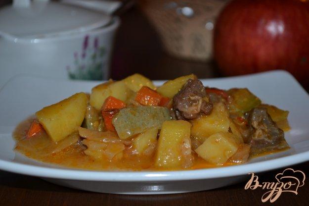 фото рецепта: Овощной микс с говядиной в мультиварке