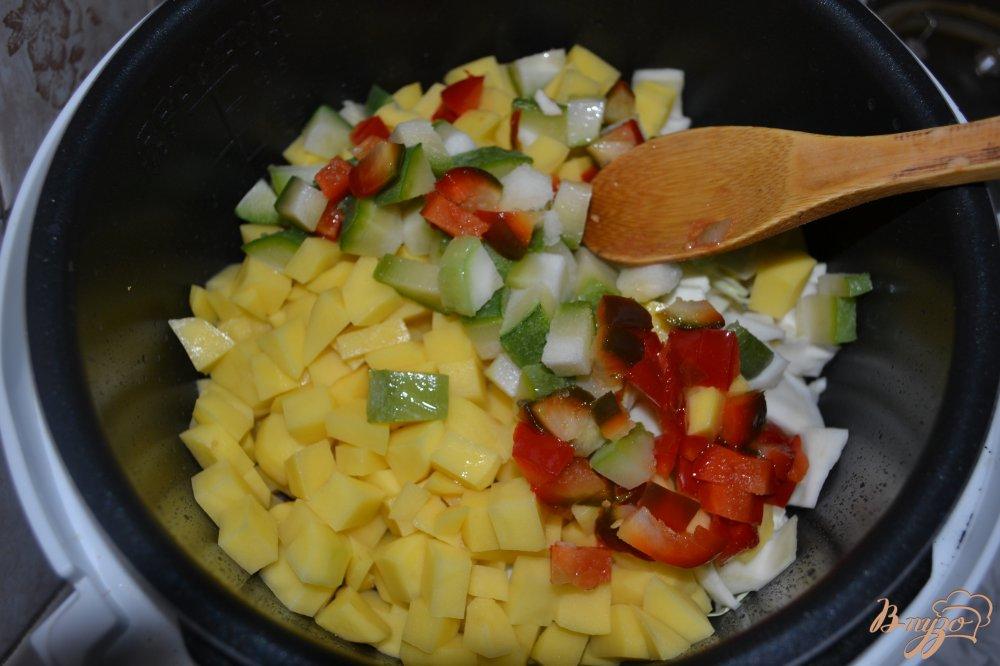 Фото приготовление рецепта: Овощной микс с говядиной в мультиварке шаг №10