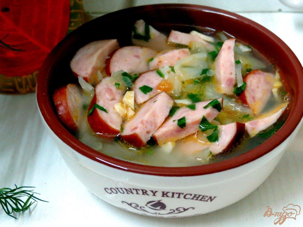 Фото приготовление рецепта: Крестьянский суп с домашними колбасками шаг №6