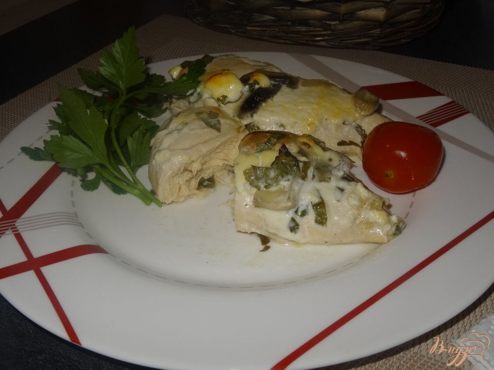 Фото приготовление рецепта: Куриная грудка в винном маринаде шаг №12