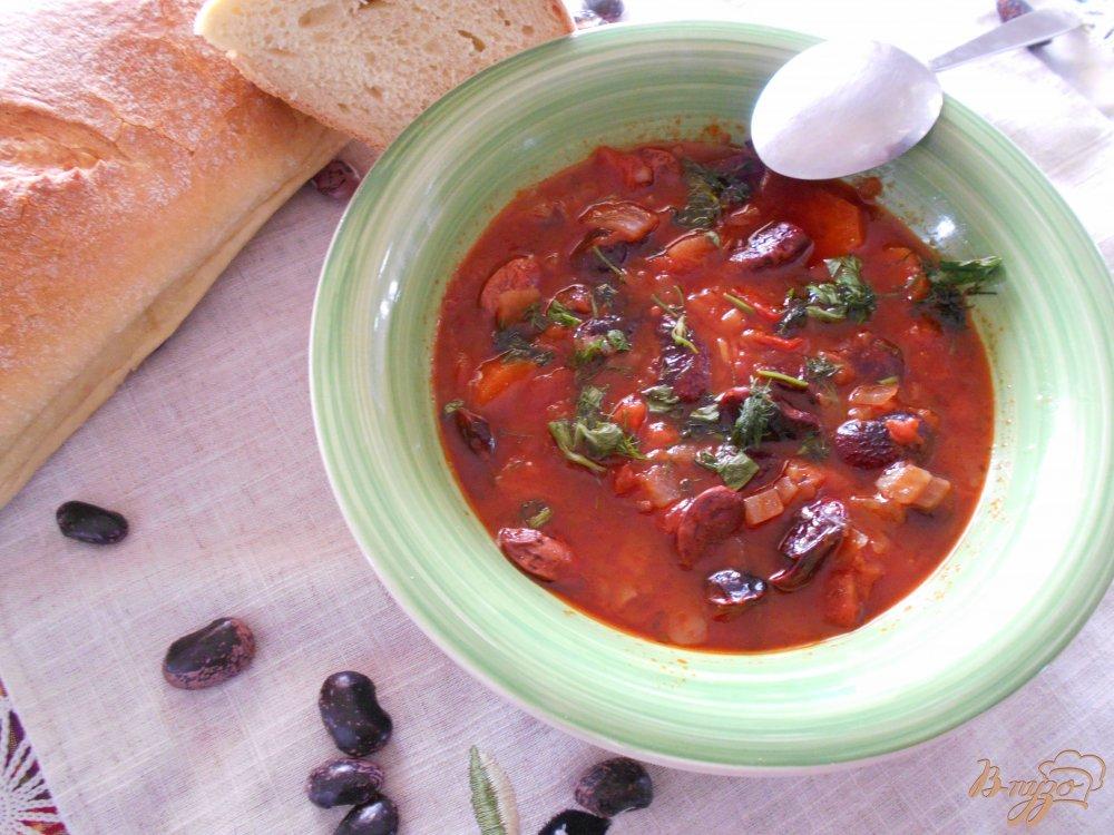 Фото приготовление рецепта: Фасолада по-гречески шаг №8