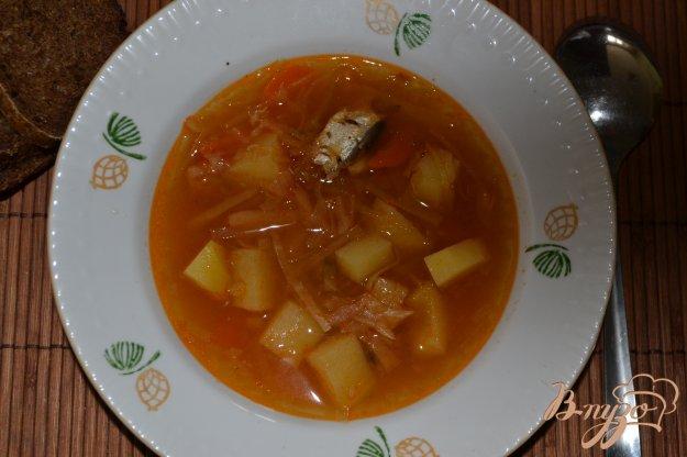 фото рецепта: Постный борщ с килькой в томате в мультиварке