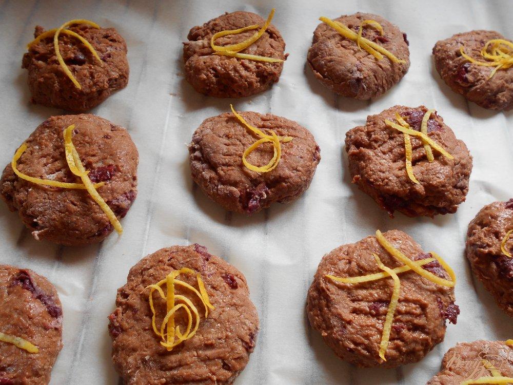 Фото приготовление рецепта: Постное печенье с кэробом шаг №7