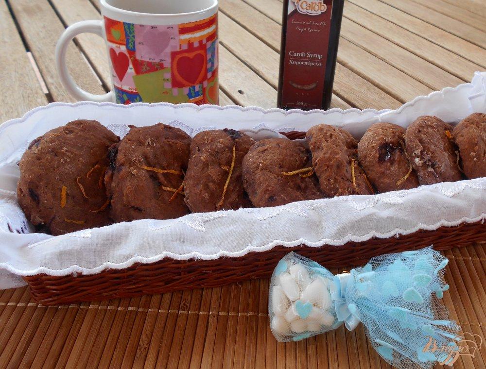 Фото приготовление рецепта: Постное печенье с кэробом шаг №8