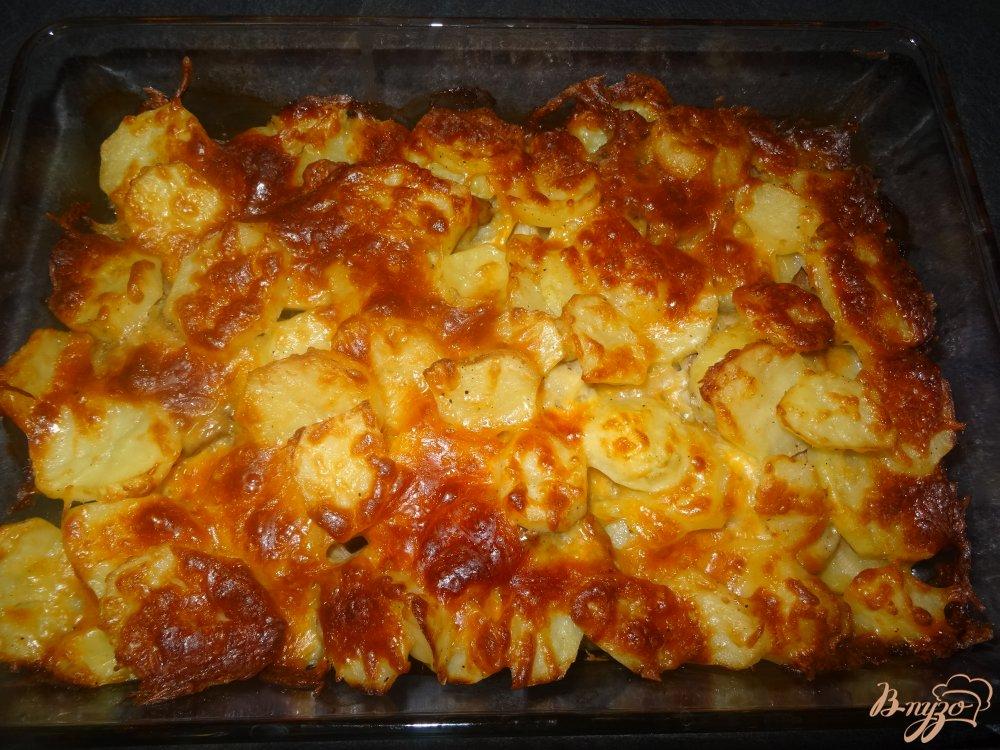 Фото приготовление рецепта: Мясо с картофелем по французски шаг №10
